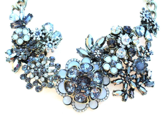 Luxe Multi Flower Crystal Necklace