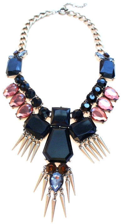 Luxe Golden Fringe Statement Necklace