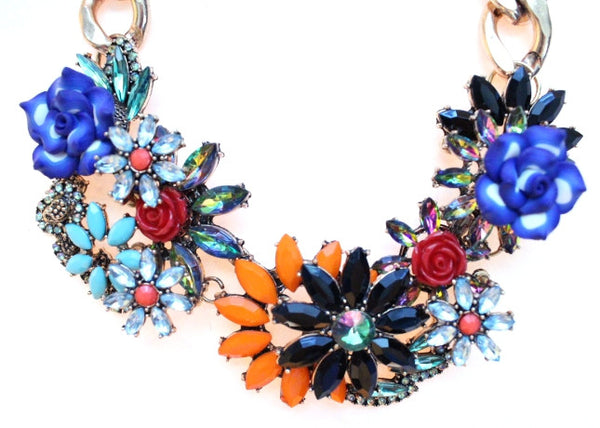 Luxe Chunky Floral Statement Necklace