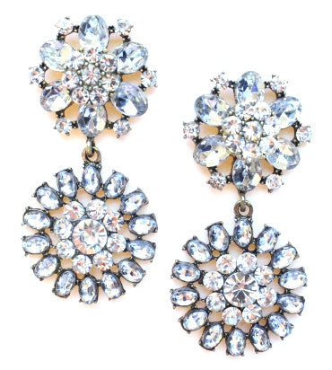 Luxe Crystal Garden Statement Earrings