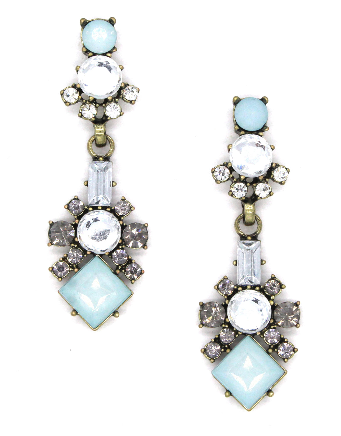 Piper Blue Crystal Earrings