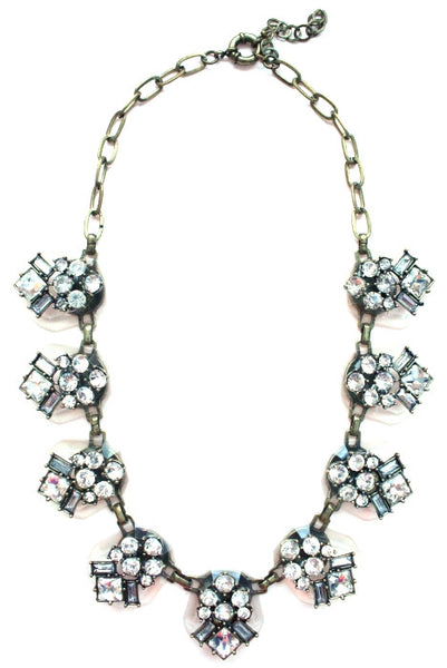 Crystal Clear Collar Necklace