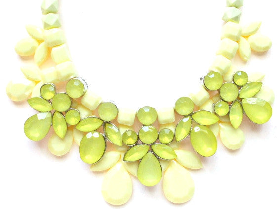 Yellow Bouquet Statement Necklace