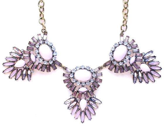 Pretty in Pale Pink Statement Necklace