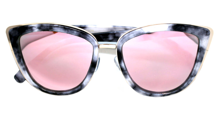 Marble Cat Eye Sunglasses- Rose Revo