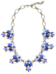 Jewel & Sparkle Plated Necklace- Royal