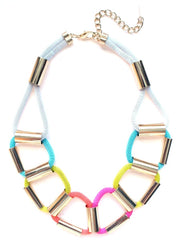 Neon Rope Chain Linked Necklace