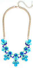 Jeweled Floral Necklace