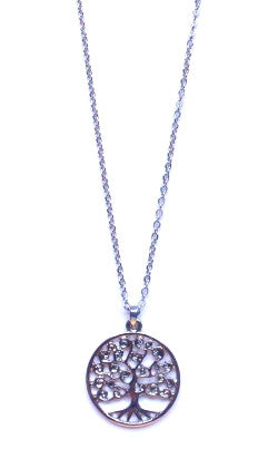 Tree of Life Pendant Necklace- Silver