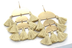Raine Tassel Earrings- Ivory
