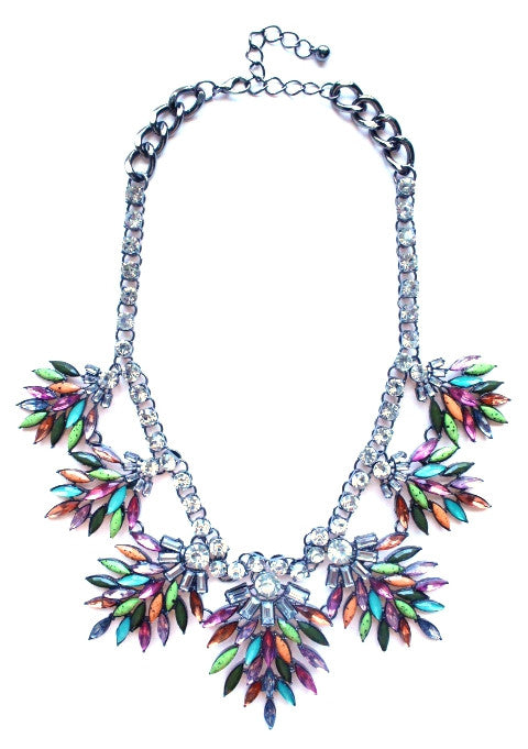 Luxe Colorful Rhinestone Necklace