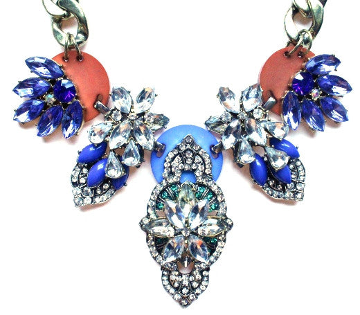 Luxe Multi Stone Cascading Crystal Necklace