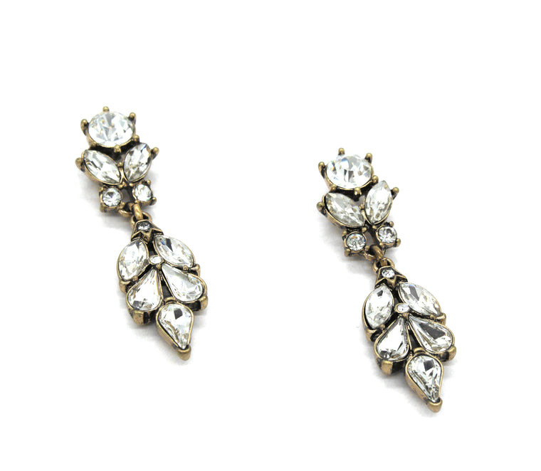 Sparkle Leaves Drop Earrings