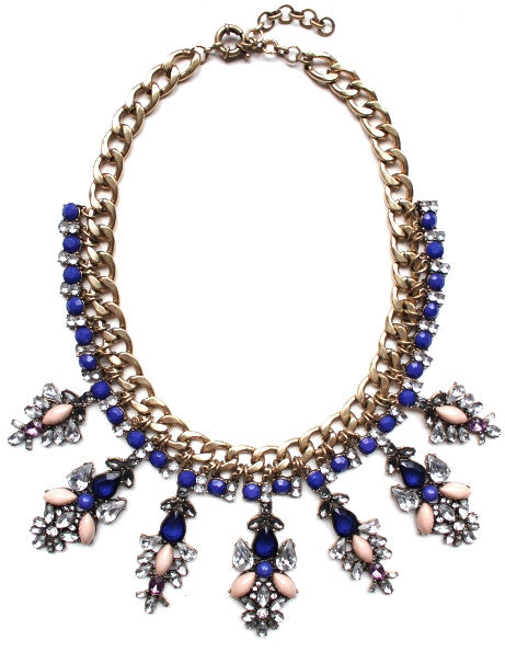 Luxe Royal Drops Bib Statement Necklace