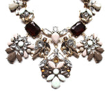 Luxe Floral Pastel Statement Necklace