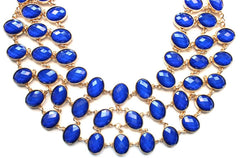 Egyptian Jeweled Collar Necklace- Royal