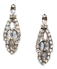 Luxe Crystal Clear Icicle Earrings