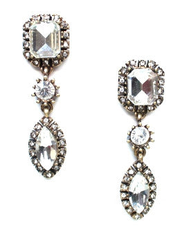Luxe Crystal Bauble Drop Earrings