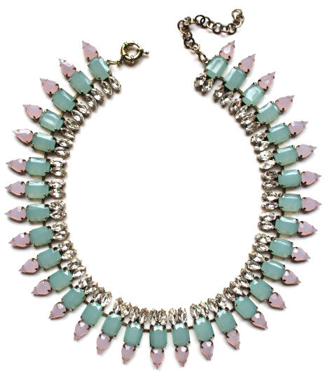Luxe Mint Spike Collar Necklace