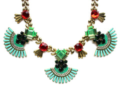 Holly Jeweled Fan Necklace