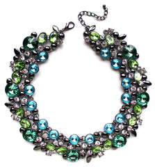 Luxe Shiny Stone Collar Necklace