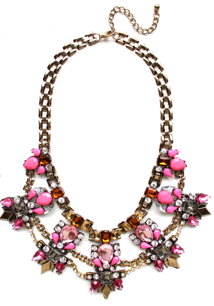 Pink Paradise Statement Necklace