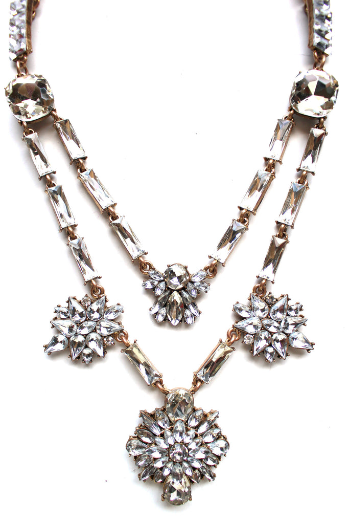 Luxe Double Layer of Sparkle Necklace