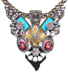 Luxe Retro Elegance Statement Necklace