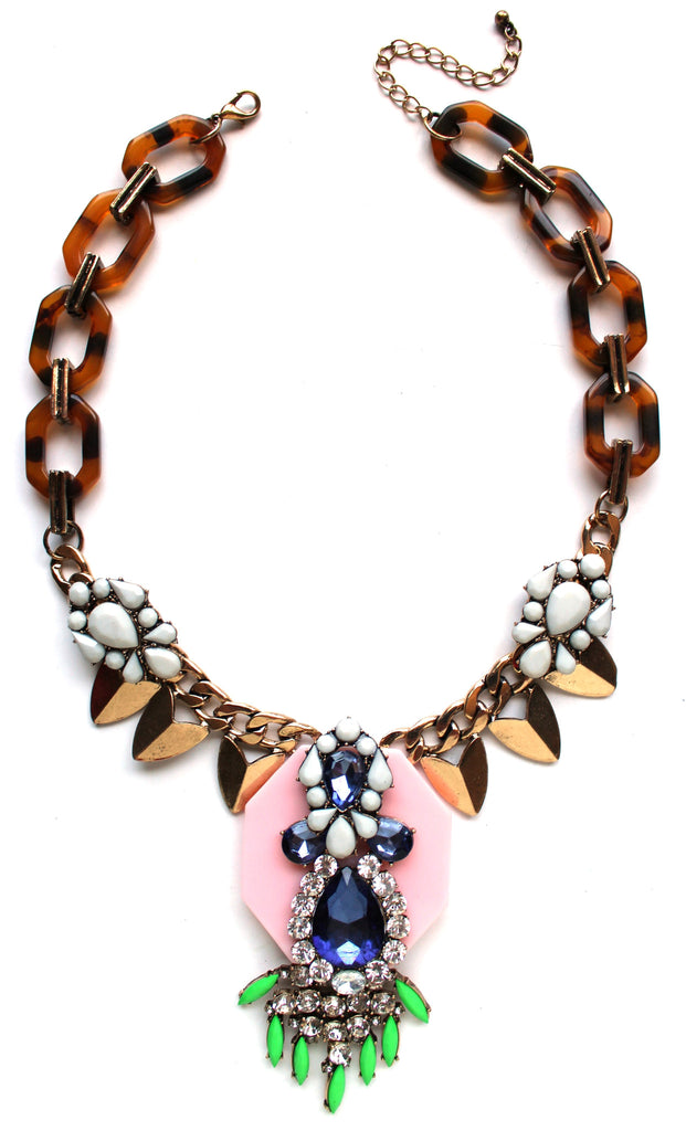 Tortoise Pop Iconic Fringe Necklace