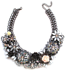 Luxe Chunky Flower Garden Collar Necklace