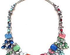 'Spring It On' Colorful Rhinestone Necklace