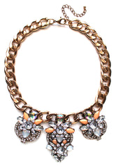 Chunky Crystal Drops Statement Necklace