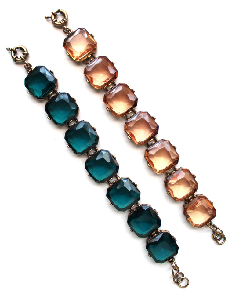Classic Square Link Bracelet- 2 Color Options