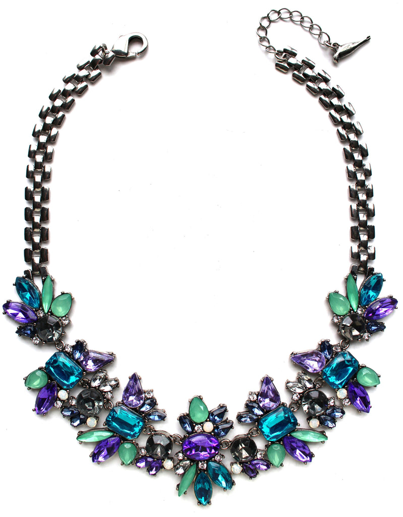 Magically Floral Crystals Necklace