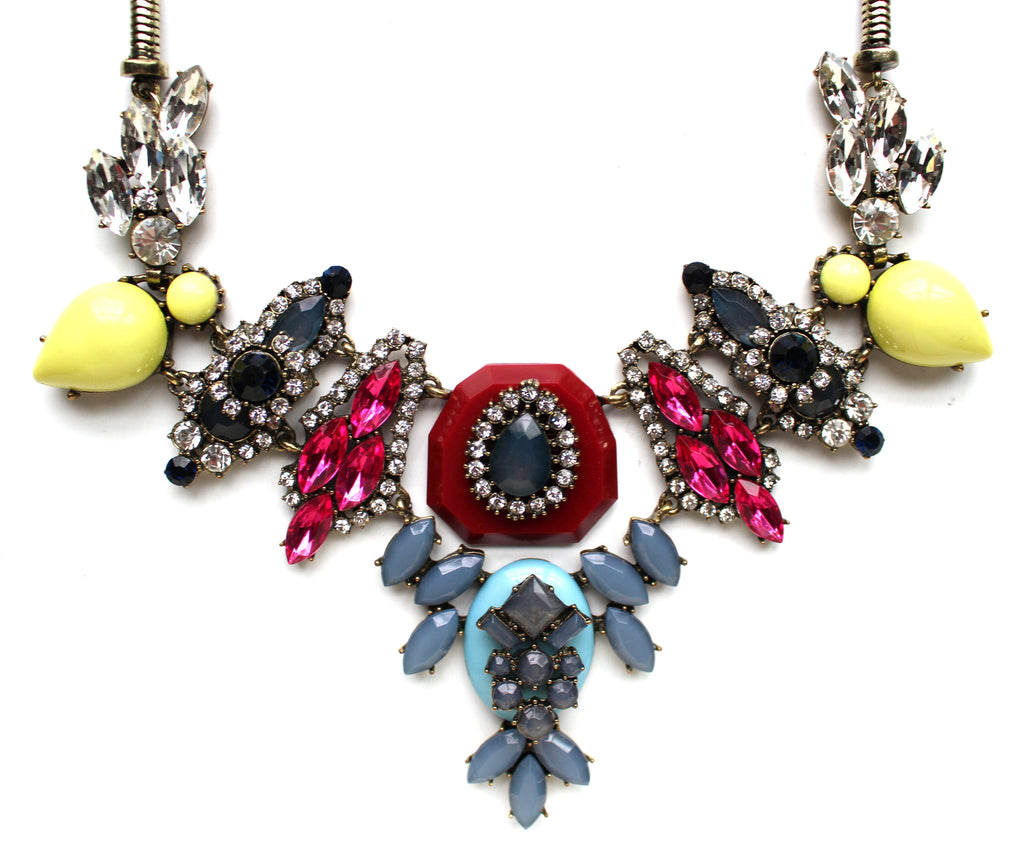 Luxe Mixed Stone & Colorful Sparkle Necklace