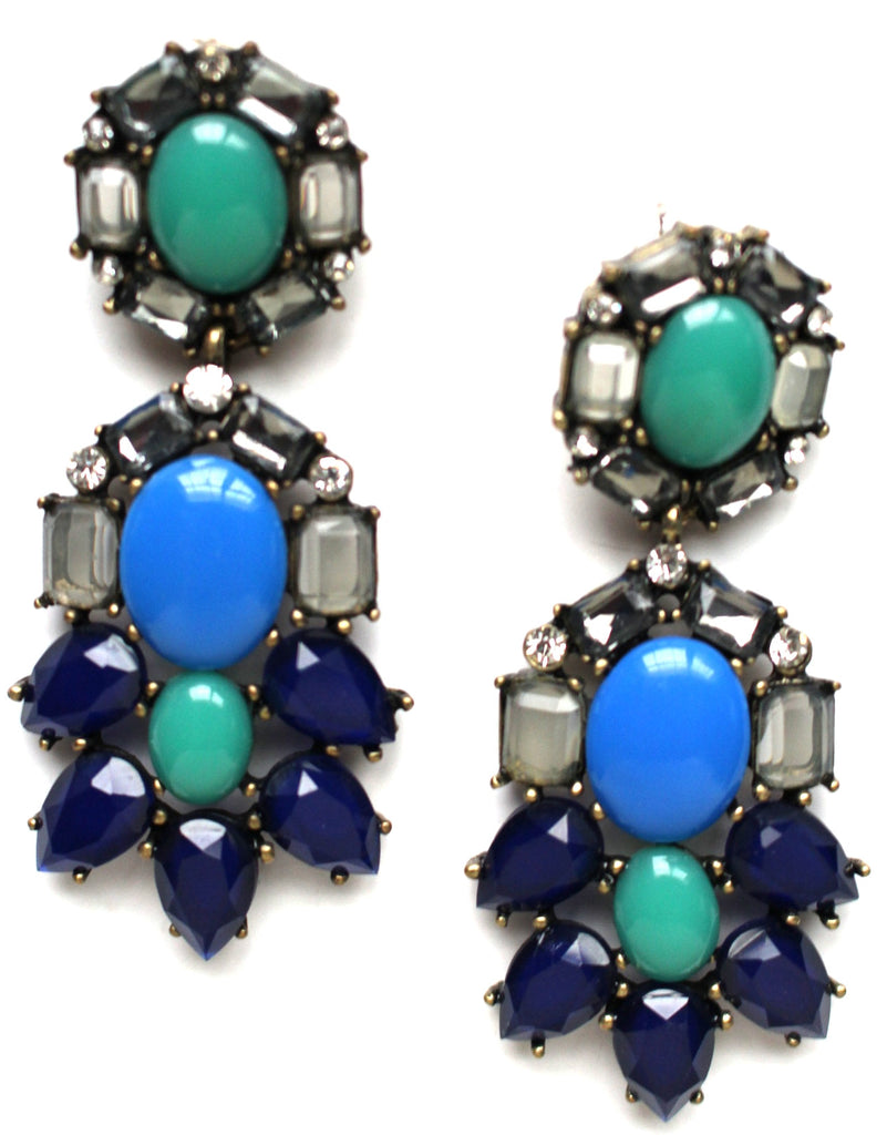 Peacock Chandelier Earrings