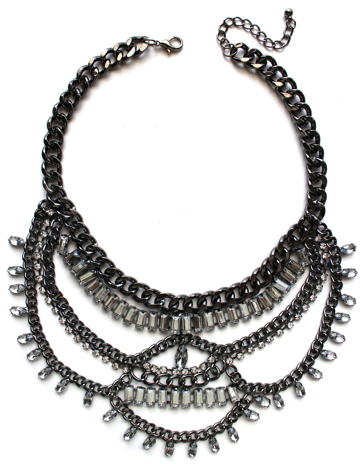 Embellished Urban Metal Chain Necklace