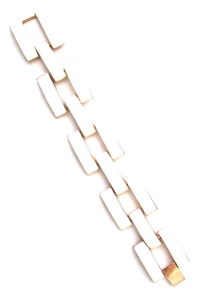 Square Enamel Link Bracelets- 10 Color Options