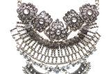 Antiqued Metal & Crystal Detail Necklace