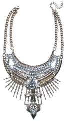 Gypsy Bling Statement Necklace- Crystal