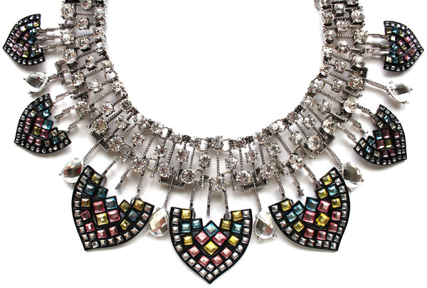 Luxe Greek & Chic Rhinestone Statement Necklace