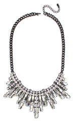 Glamour Spike Bib Statement Necklace
