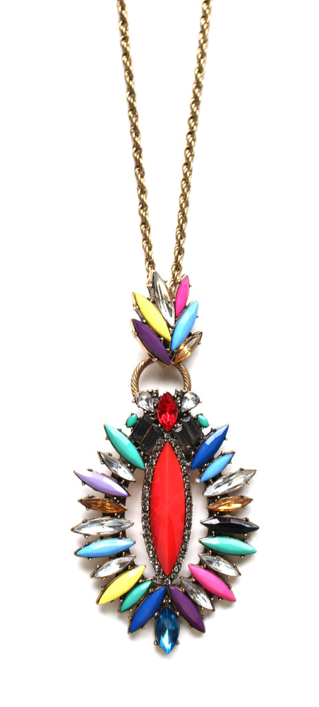Wear the Rainbow Long Pendant Necklace