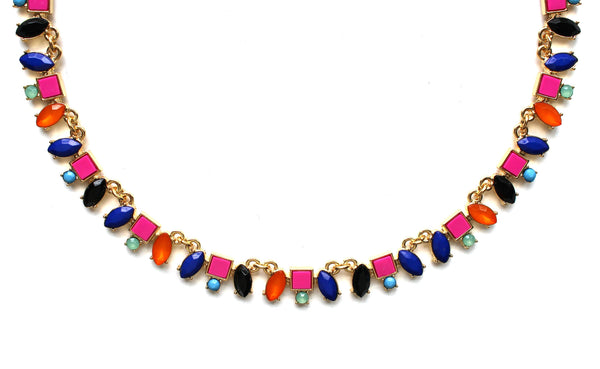 Color Wheel Jeweled Necklace
