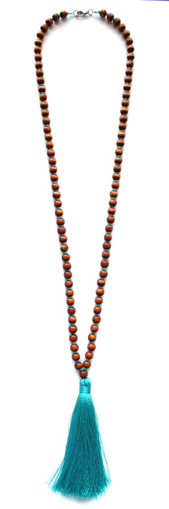 Beaded Tassel Long Necklace