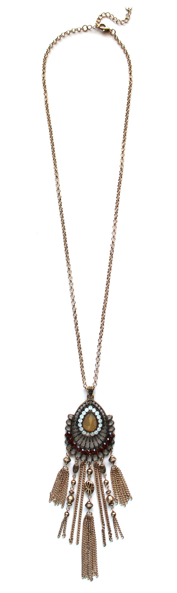 Dreams Come True Jeweled Long Necklace