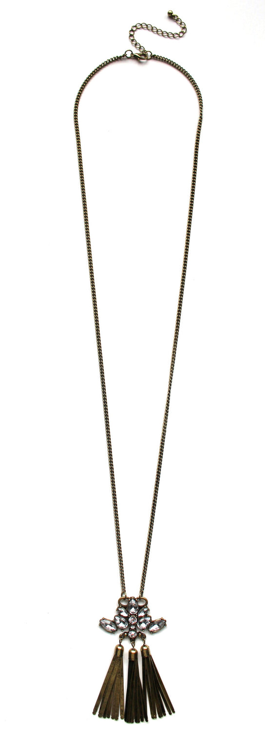 Urban Mix Triple Tassel Necklace