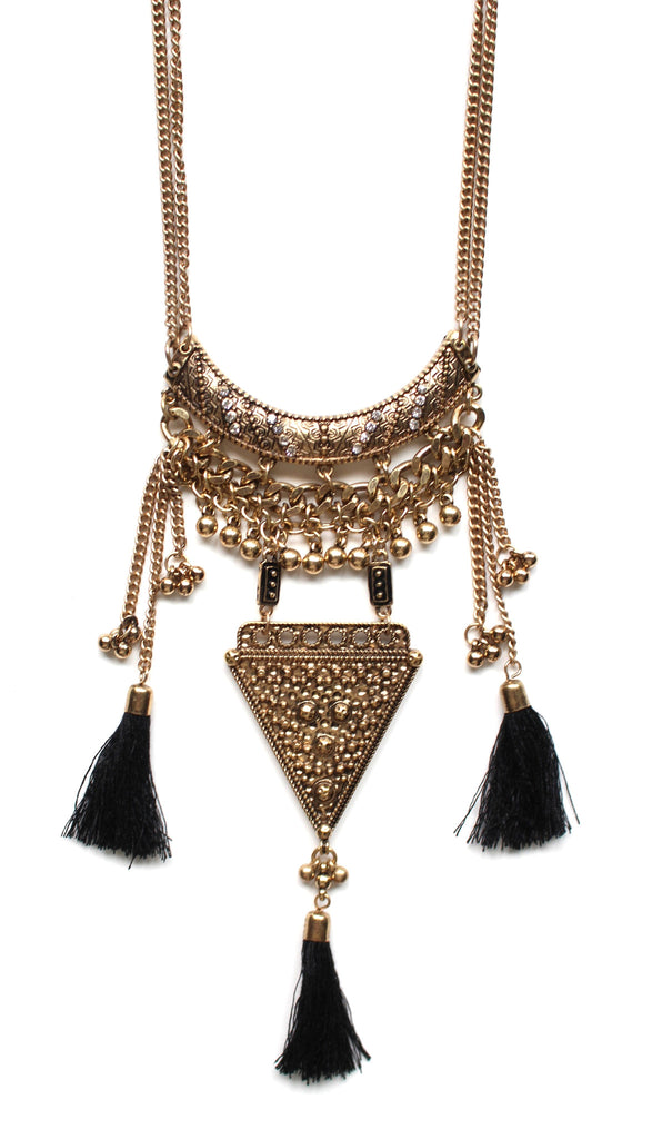 Tribal Princess Tassel Necklace