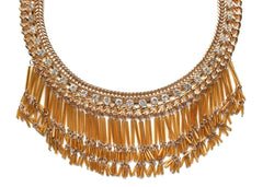 Gold Crush Fringe Necklace