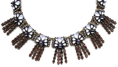 Shine Bright Lavandula Fringe Statement Necklace